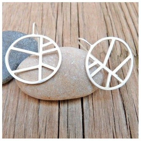 Round earrings PALM