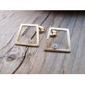 TURA gold earrings