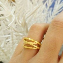 Gold-plated silver ATW ring