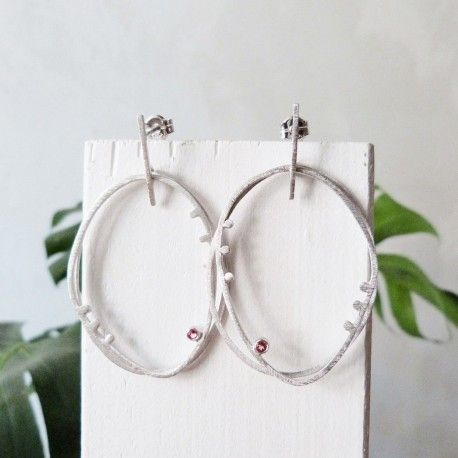 Silver earrings BRISA