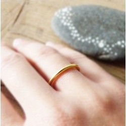 Gold-plated silver wedding ring