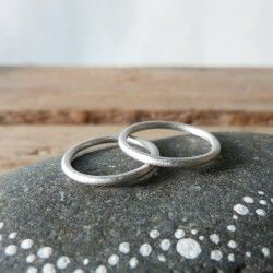 Rhodium plated silver wedding ring