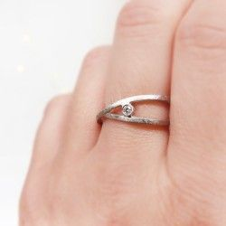 White gold and diamond wedding ring
