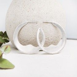 Big sterling silver hoop earrings DUNA