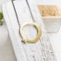 18 Kts gold necklace with diamonds MUT