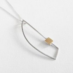 Silver and gold pendant Barcelona