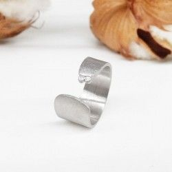 Open silver ring