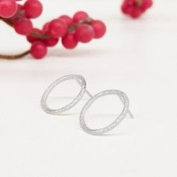 Small circle TREE earrings