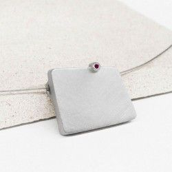 Ruby and silver pendant LIFE