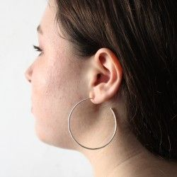 Maxi silver hoop earrings TREE