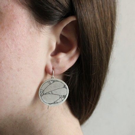Long and extravagant silver earrings STROKE