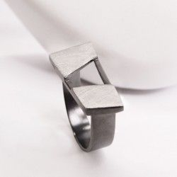 modern and actually silver ring