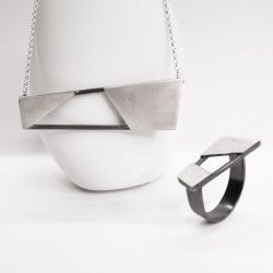 design ring and necklace handmade in silver