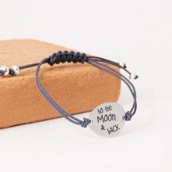 To the moon & back silver bracelet