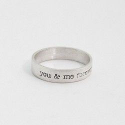 YOU AND ME FOREVER silver ring