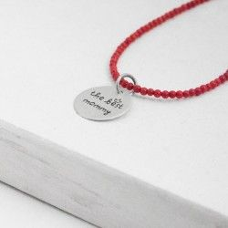 """""""The best mommy"""" silver pendant"""