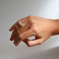 Sterling silver with aquamarine. Norfeu collection