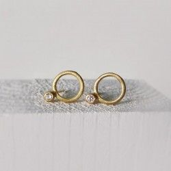 Pendientes Ice oro amarillo y diamante
