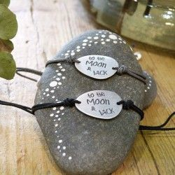 Pulsera plata TO THE MOON & BACK Pulseras