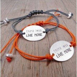 Polsera THINK LESS, LIVE MORE Polseres