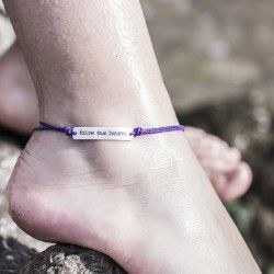 FOLLOW YOUR DREAMS ankle bracelet