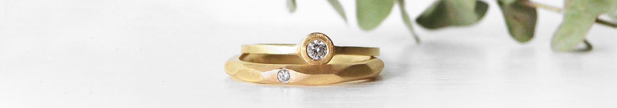 Handmade gold wedding rings and bands