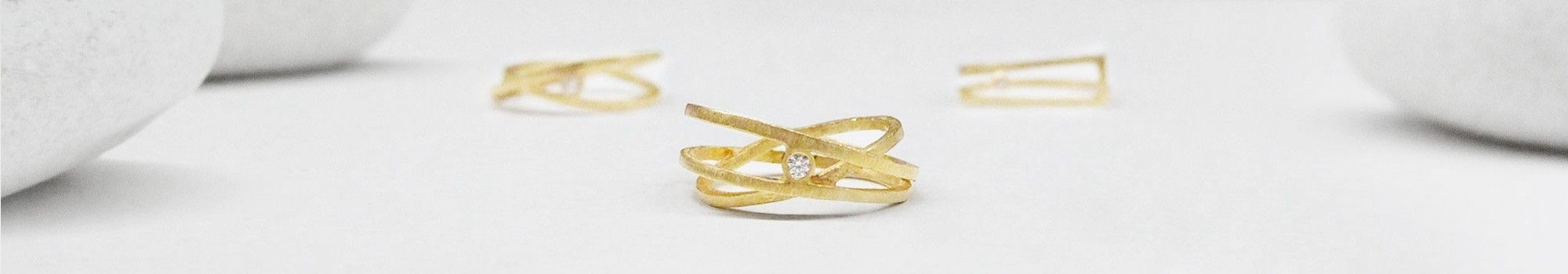 Handmade gold rings and bands